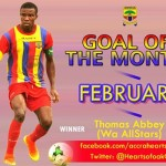 VIDEO: Thomas Abbey wins Hearts of Oak Goal of the Month