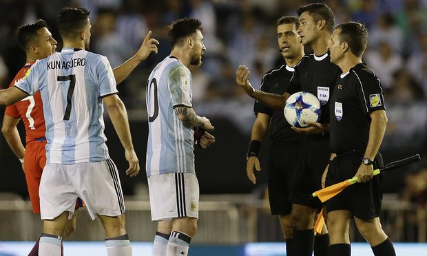 Barcelona superstar Lionel Messi slapped with FOUR matches Argentina ban for insulting official