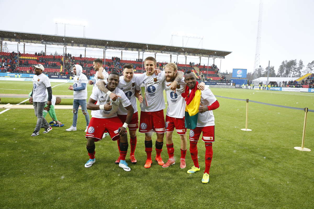 PHOTOS: Defender Sam Mensah celebrates Swedish Cup triumph with Östersunds FK
