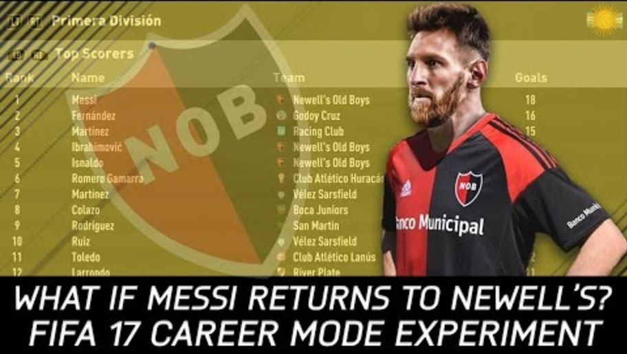 VIDEO: YouTuber Simulates What Would Happen if Lionel Messi Rejoined Boyhood Club Newell's Old Boys