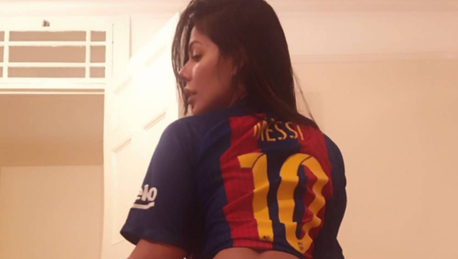 PHOTOS: Miss Bum Bum Celebrates Messi's Milestone in the Best Way She Knows How...With Her Bum