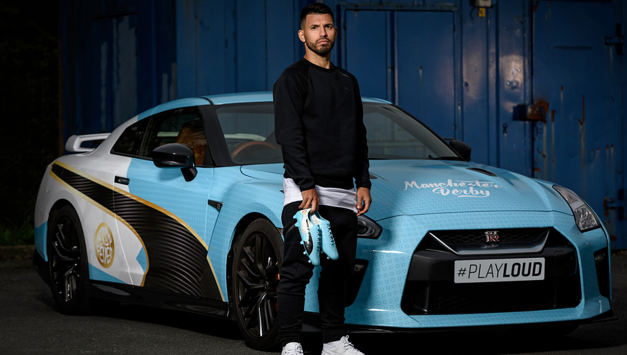 PUMA Surprise Sergio Aguero With Special Manchester Derby Boots in Spectacular Style