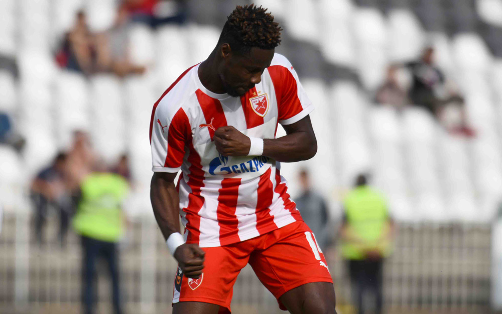 On-loan striker Richmond Boakye bags brace as Red Star Belgrade rout Cukaricki Serbian Cup
