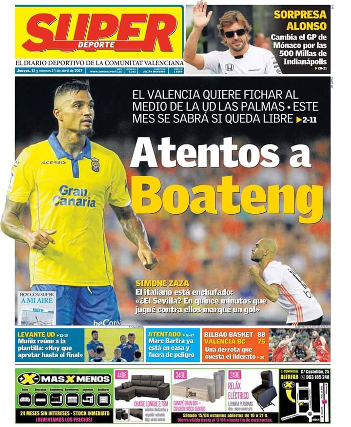REVEALED: Kevin Boateng left Las Palmas due to desire to become club's lead striker
