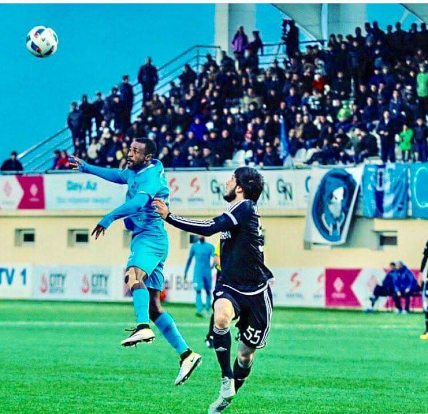Striker Richard Gadze is second highest scorer in Azerbaijan top-flight