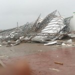 BREAKING NEWS: Heavy storm rips off Papa Kwesi Ndoum stadium roofing