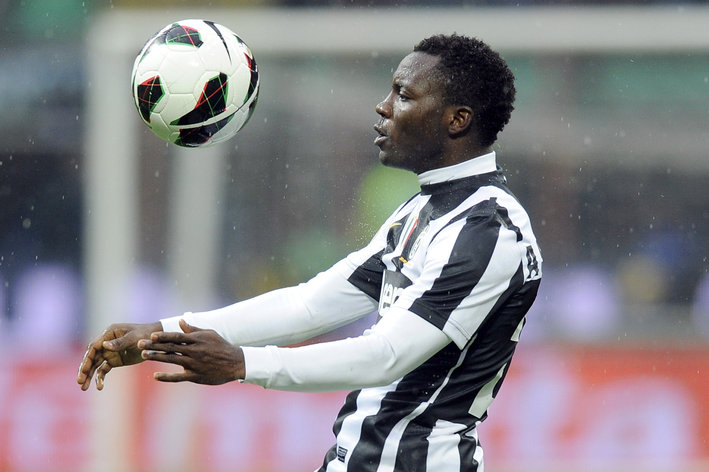 Kwadwo Asamoah works out with Juventus ahead of Atalanta clash on Friday