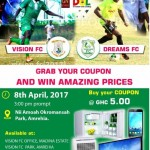 Division One League: Vision FC running a raffle to promote Dreams FC clash on Saturday