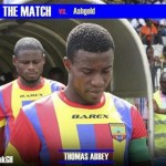 Hearts captain Thomas Abbey says big win over Bechem United helped them in AshantiGold downfall