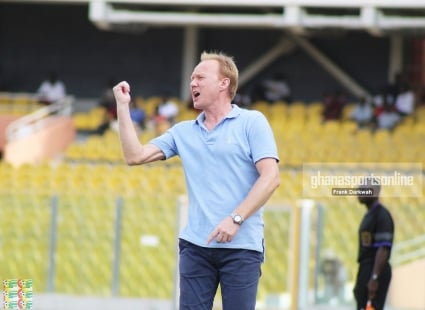 Hearts coach Frank Nuttall slays Aduana players for time wasting tactics in pulsating 3-3 encounter