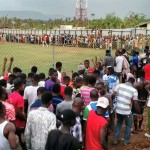 VIDEO: Fans of Okyeman Planners throw missiles at players and officials of Vision FC