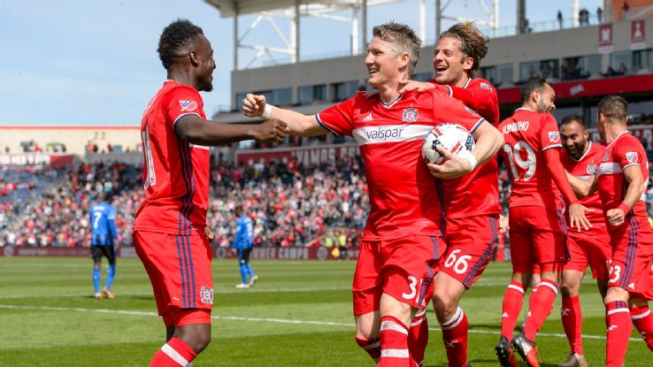 VIDEO: David Accam provides assist for Schweinsteiger to score debut MLS goal for Chicago Fire