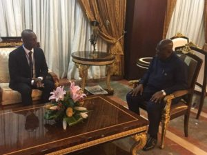 Ghana President Akufo-Addo meets in-coming Black Stars coach Kwasi Appiah