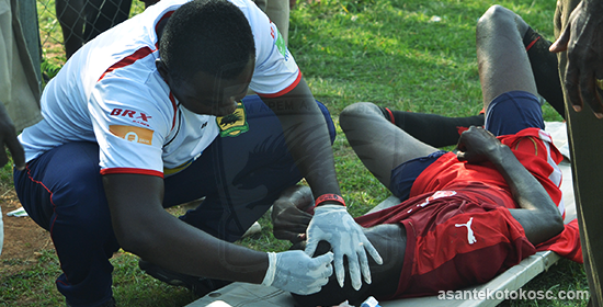 Asante Kotoko's medical team saves Bekwai Youth Academy during MTN FA Cup tie
