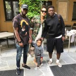 Sulley Muntari spends quality time with family after defeat to Juventus in Serie A
