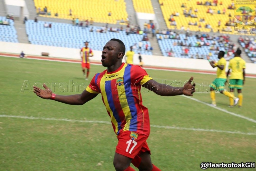 Hearts of Oak board member Frank Nelson commends Patrick Razak
