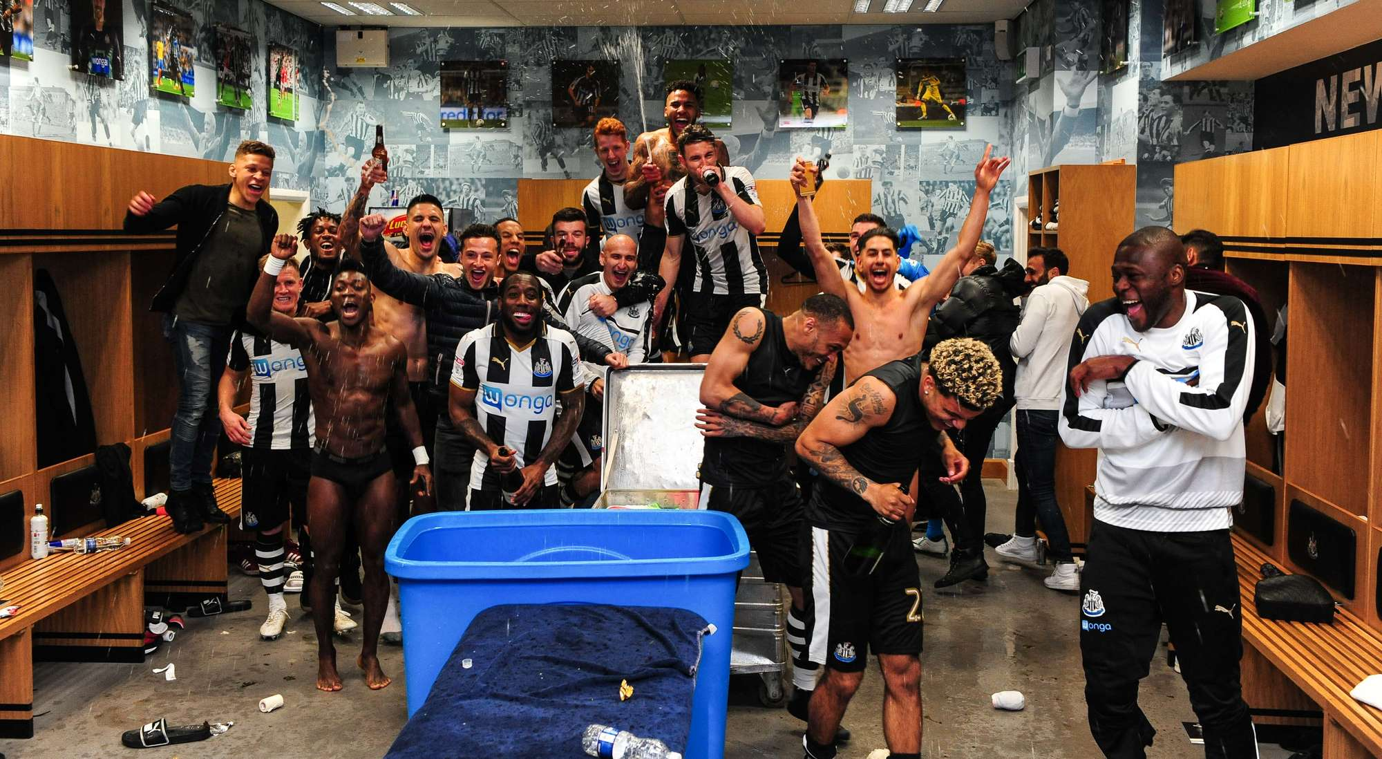 PHOTOS: Christian Atsu celebrates NewCastle United Premier League promotion