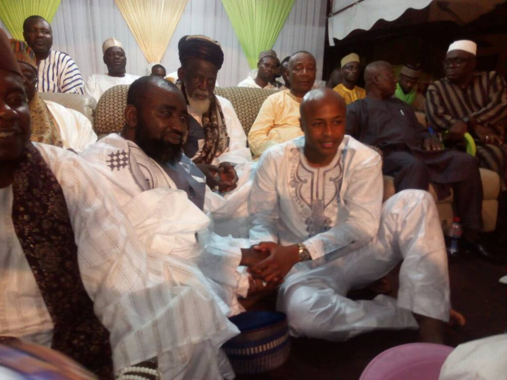 Black Stars deputy captain Andre Ayew joins Muslims scholars in Nima to end annual Qur'anic recitations