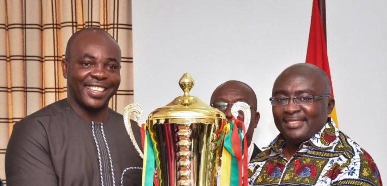 Sports Minister presents President Cup to Ghana veep Mahamudu Bawumia