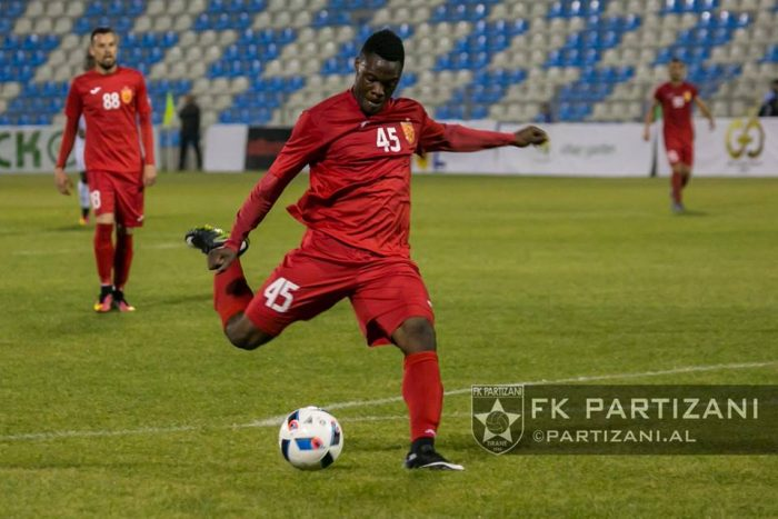 Partizan president hints of a return for on-loan striker Caleb Ekuban