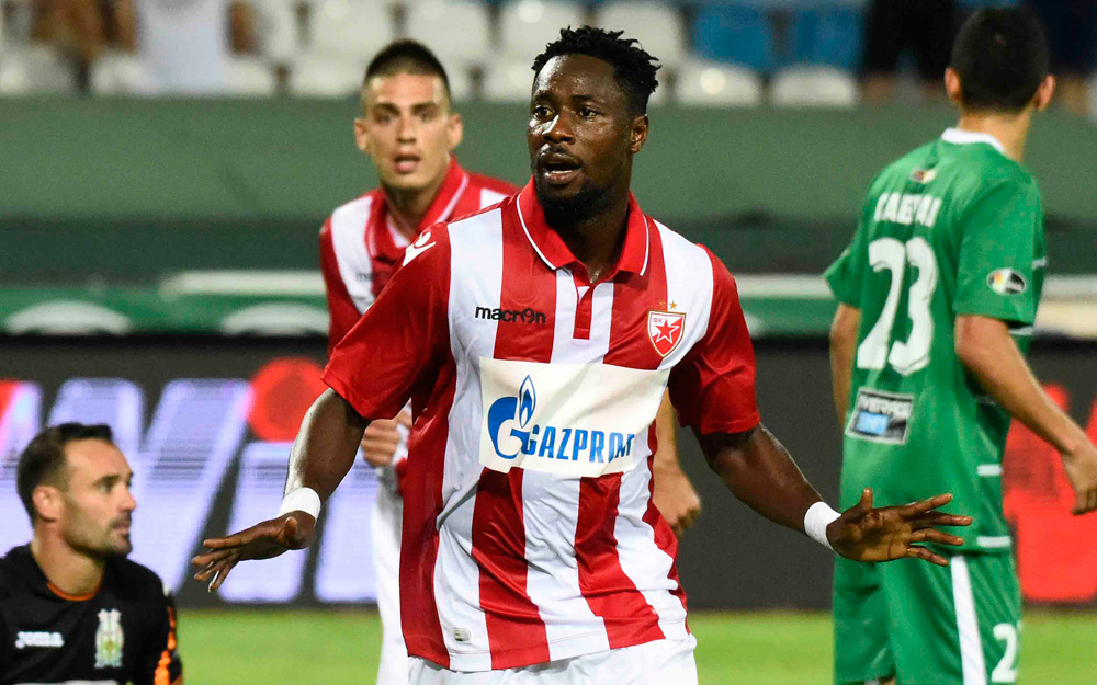 Europa League qualifiers: No goal for Richmond Boakye as Red Star Belgrade progress