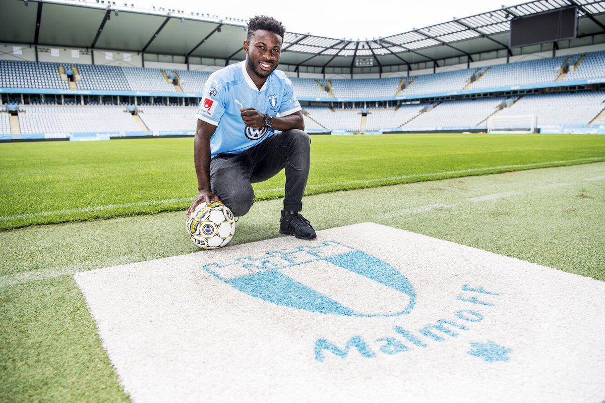 Ghanaian midfielder Kingsley Sarfo delighted with Malmo FF switch