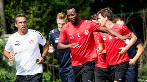 Ghana midfielder Bennard Kumordzi holds first training session with Belgian side KV Kortrijk