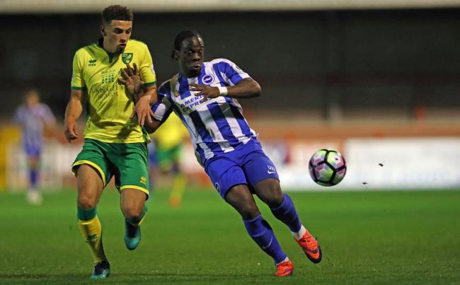 Ghanaian forward Elvis Manu on his way out of English side Brighton