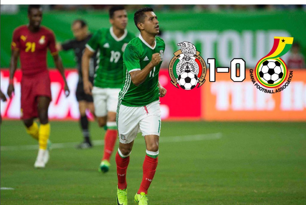 Video: Watch full highlights of Ghana's 1-0 friendly defeat to Mexico