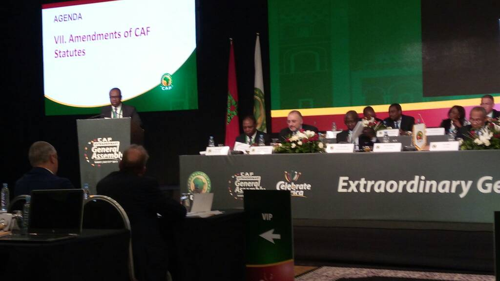 VIDEO: Ghana FA chief Kwesi Nyantakyi delivers speech on CAF statutes changes