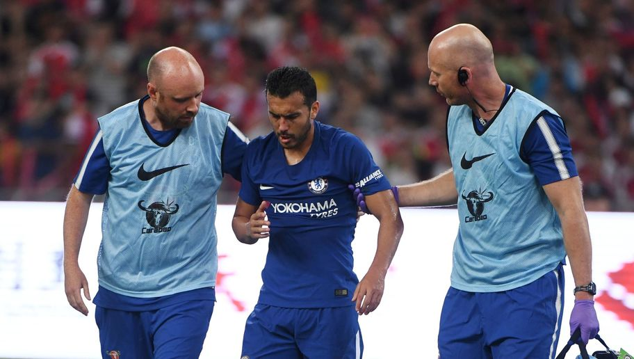Chelsea Star Pedro Sent Back to London After Sickening Clash of Heads vs Arsenal in China