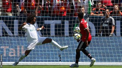 Man Utd beat Real Madrid on penalties in Santa Clara after Victor Lindelof error