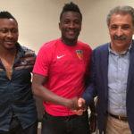 PHOTOS: Ghana captain Asamoah Gyan joins Turkish side Kayserispor