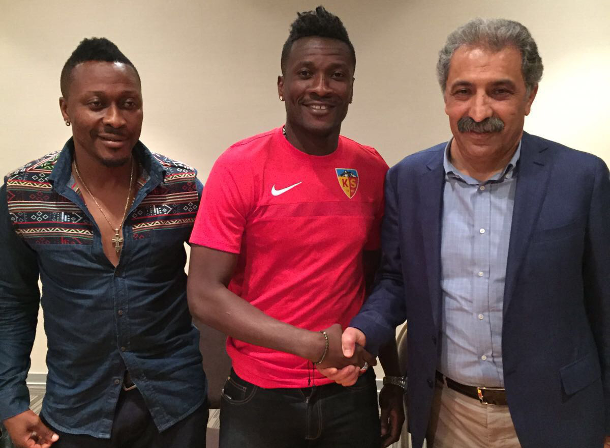 Ghana legend Asamoah Gyan happy to join the new Kayserispor project