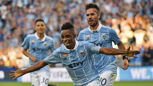 Ghana forward Latif Blessing wins plaudits from Sporting Kansas City coach