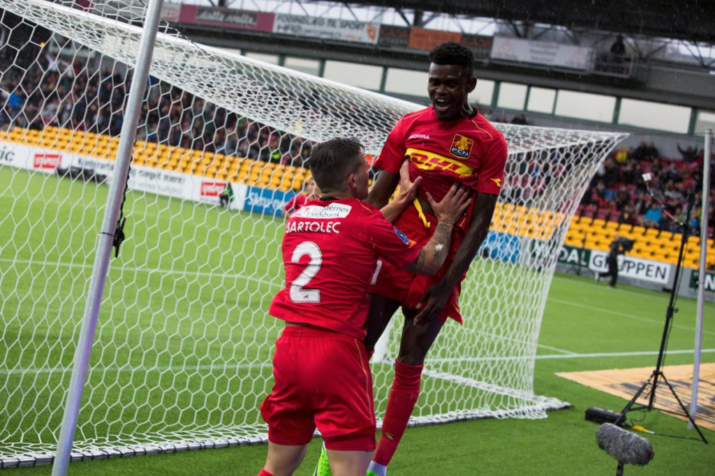 Godsway Donyoh's double not enough to save Nordsjaelland from defeat at Midtjylland