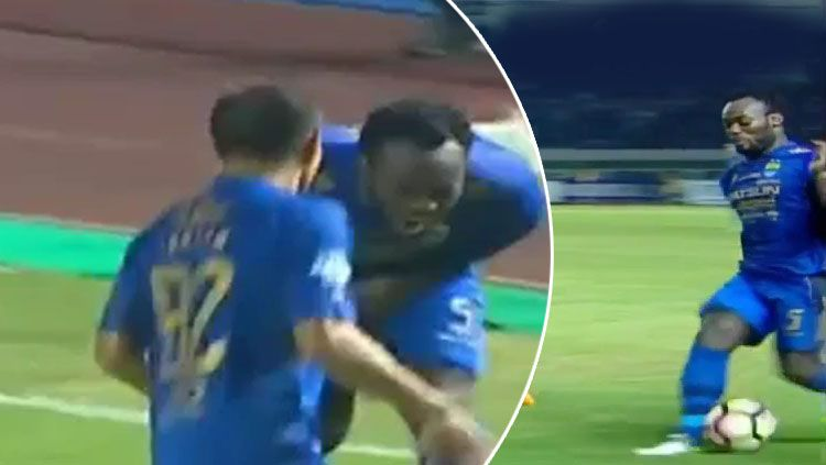 VIDEO: Ball hitting Essien in the testicles makes headlines in Indonesia