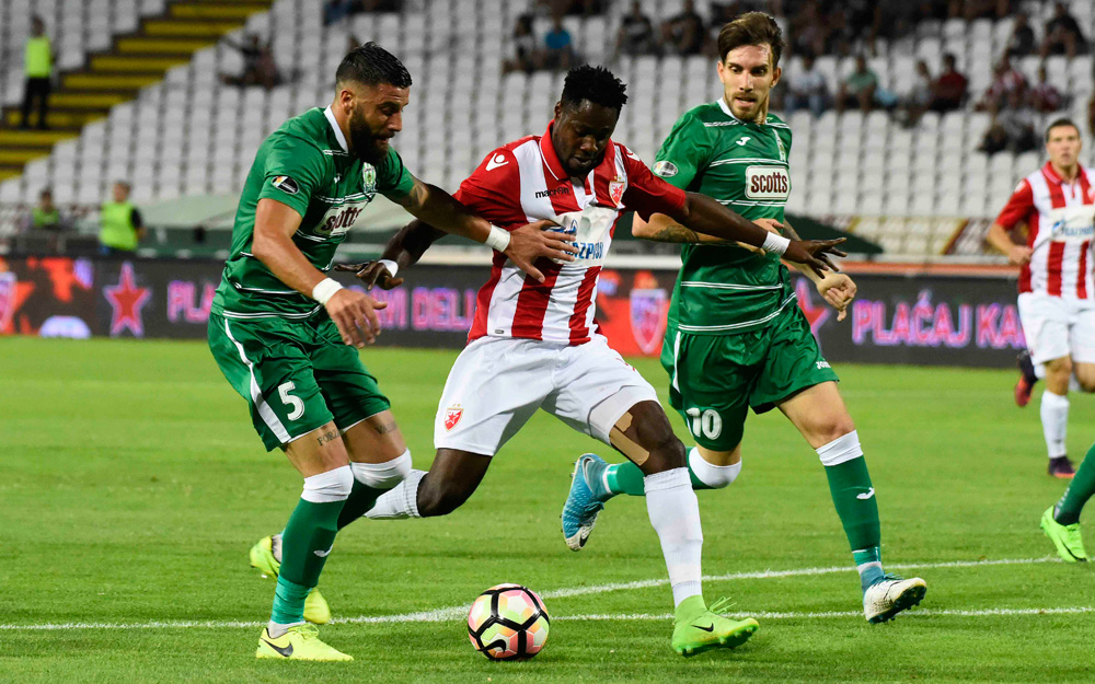 VIDEO: Watch Richmond Boakye's sublime goal for Red Star Belgrade in Europa League