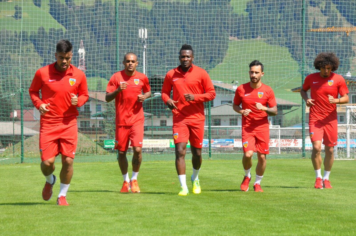 Ghana captain Asamoah Gyan starts training with new club Kayserispor