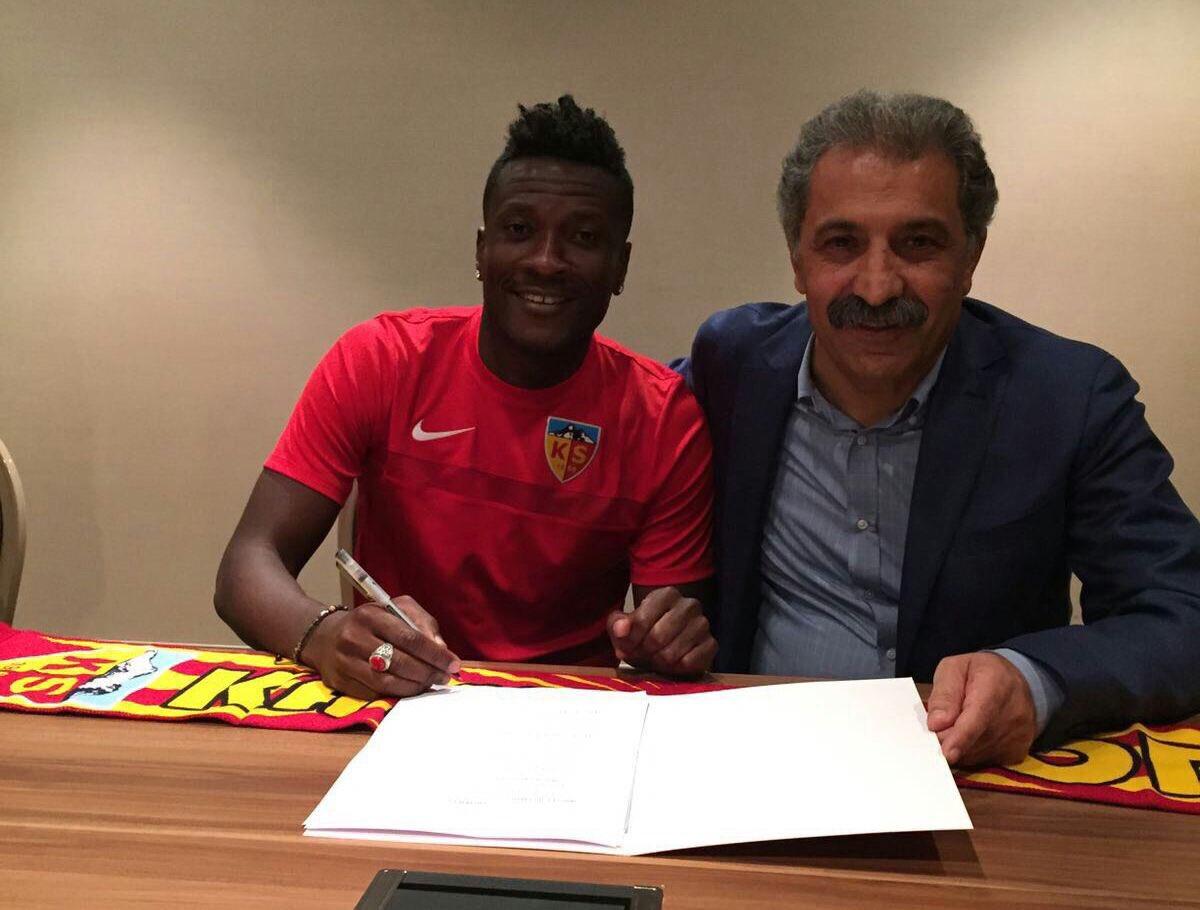 Gyan Joins Raheem Lawal's Turkish Club Kayserispor
