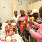 PHOTOS: Hearts of Oak visit Kotoko coach Pollack; make donation to Porcupine Warriors