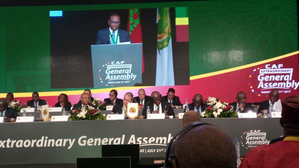PHOTOS: Ghana FA chief Kwesi Nyantakyi delivers address to CAF General Assembly on reforms in Morocco
