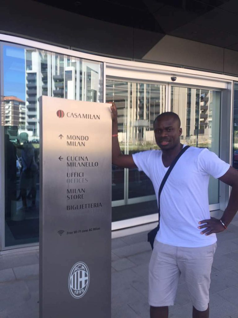 PHOTOS: Top Ghanaian Sports Journalist Ernest Koranteng tours darling club AC Milan