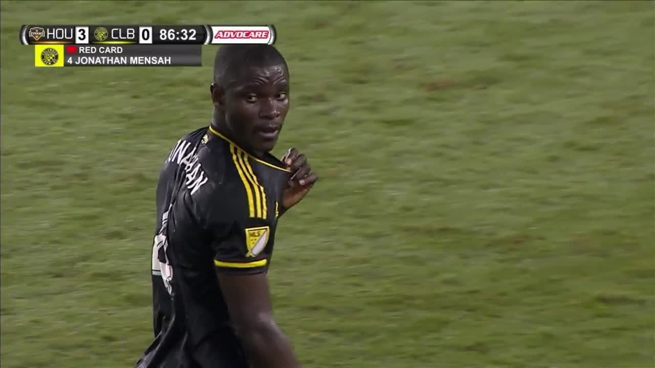 Columbus Crew Ghana duo Jonathan Mensah and Lalas Abubakar sent off in defeat at Philadelphia Union