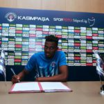 PHOTOS: Turkish top-flight side Kasimpasa unveil loan signing Bernard Mensah