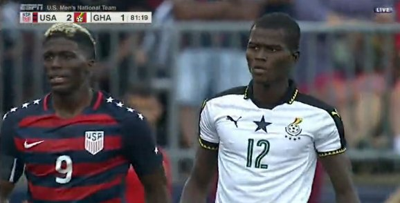 Policeman Samuel Sarfo finally makes Ghana debut in defeat to USA