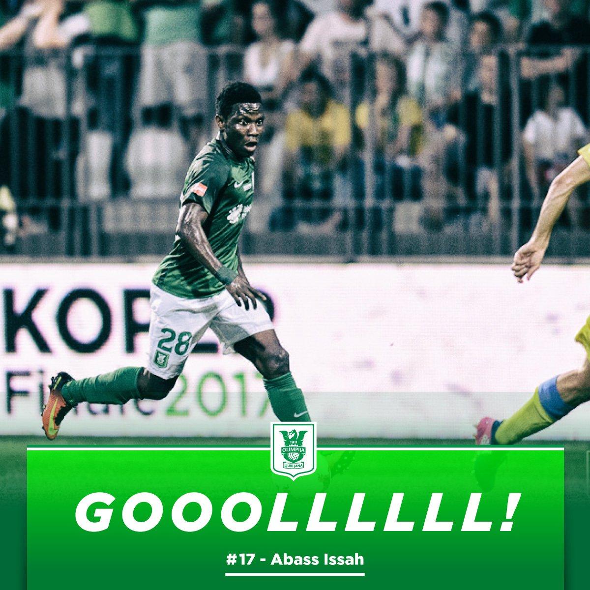 In-form Issah Abass scores again as NK Olimpija Ljubljana thump HJK Helsinki in Europa League