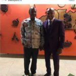 Photos: Ghana star Andre Ayew meets Guinea President Alpha Condé
