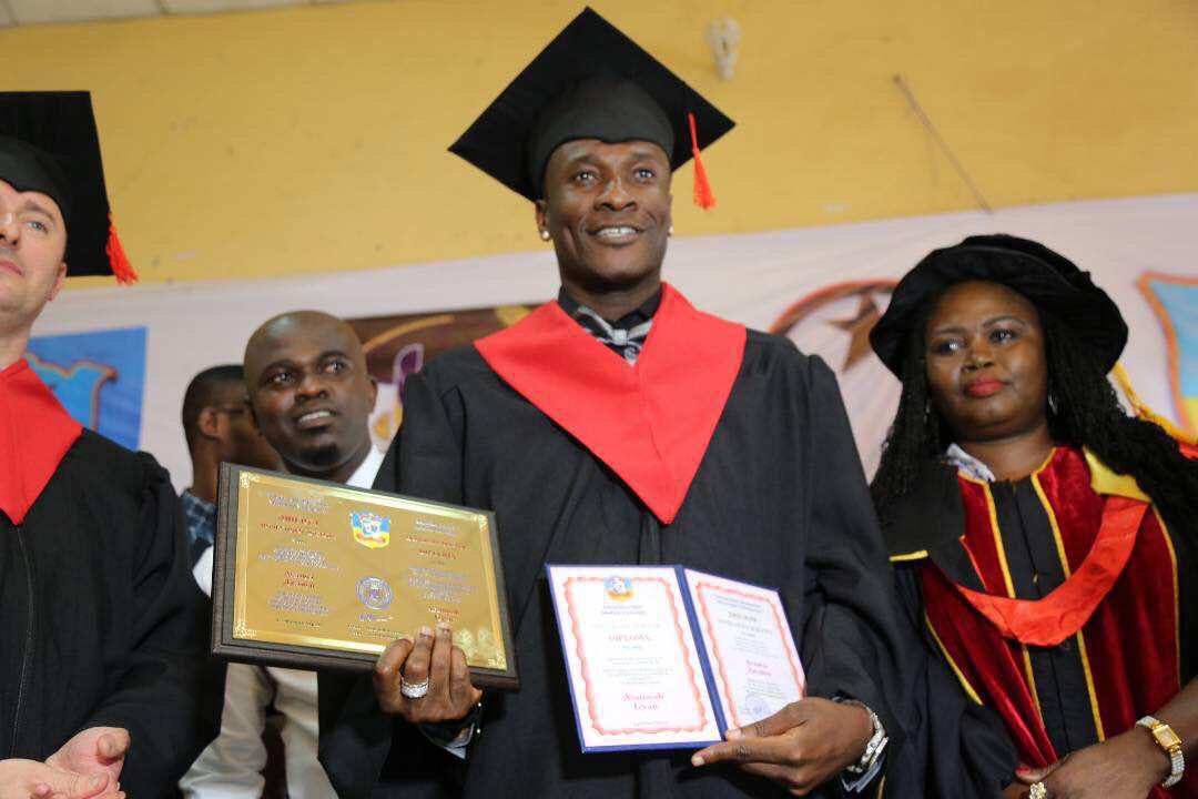 VIDEO: Asamoah Gyan receives doctorate degree from Ukrainian University
