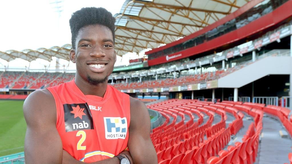 Gold Coast academy player Kwabe Boakye wants to be first player with Ghanaian heritage to play AFL